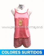 Pijama de Dama x 4 Unidades Tallas:  M - L - XL - XXL
