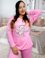Pijama de Dama Interior Polar  x 5 Unidades Tallas: S - M - L - XL - XXL