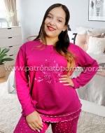 Pijama de Dama Interior Franela  x 4 Unidades Tallas:  M - L - XL - XXL