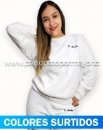 Pijama Dama Plush x3 unds. Tallas:  M - L - XL