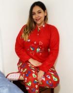Pijama de Dama Polar x 4 Unidades Tallas: M - L - XL - XXL