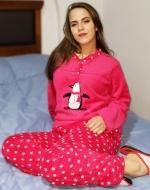 Pijama de Dama Plush x 4 Unidades Tallas: S - M - L - XL