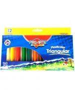 Plasticinas Triangular 12 Colores x 6 Cajas