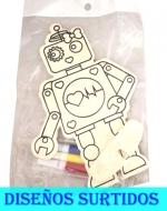 Muñeco para Pintar x 12 Unds.