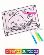 Rompecabezas para Colorear x12 Unds. Medidas: 15 x 15 cm Aprox.