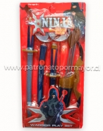 4 Set Juego de Guerrero Ninja