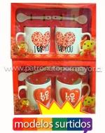 Tazas para San Valentin x 12 Unidades