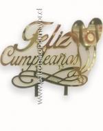 Toppers de Torta Cumpleaños x 12 Unds.