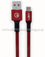 Cable Iphone 1.5Mts x4 Unids.