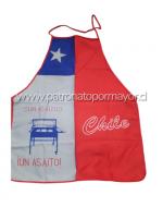 Delantal Chile para Adulto x 6 Unds. Diseños Surtidos