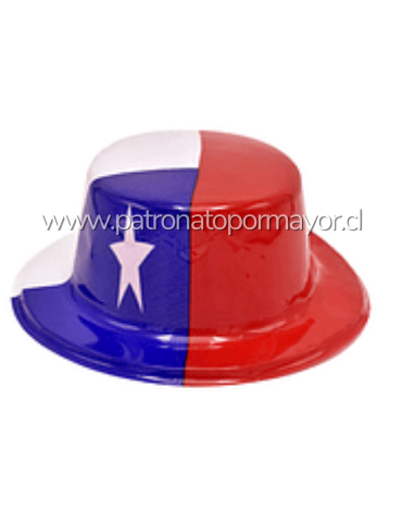Sombrero De Copa Fiestas Patrias Chile 26x23x9cm x12 Unds