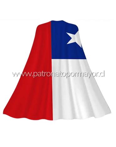 Capa De Bandera De Chile 90 x 145cm x 6 Unds